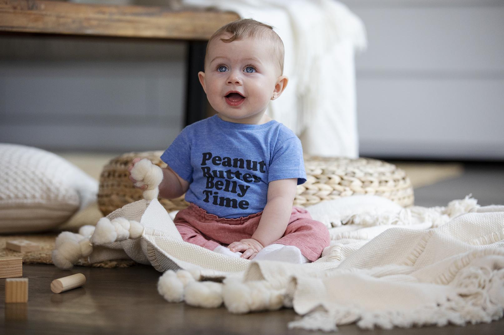 Baby wearing PBBT tee