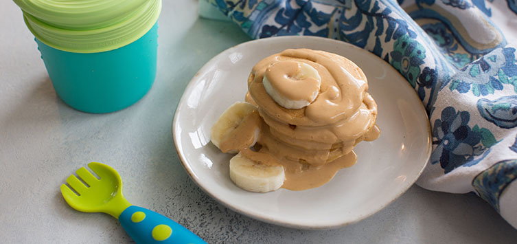 Peanut Butter Baby Pancakes